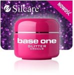 glitter 29 Crocus base one żel kolorowy gel kolor SILCARE 5 g